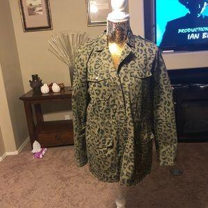 NWOT forever 21 leopard jacket
